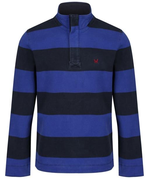 Men's Crew Clothing Padstow Pique Sweatshirt - Ink / Cobalt Blue
