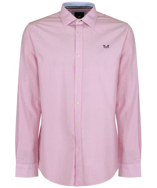 Men's Crew Clothing Classic Micro Gingham Shirt - Classic Pink