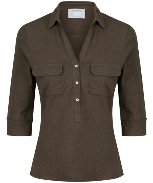 Women's Schoffel Marina Jersey Shirt Top - Dark Olive