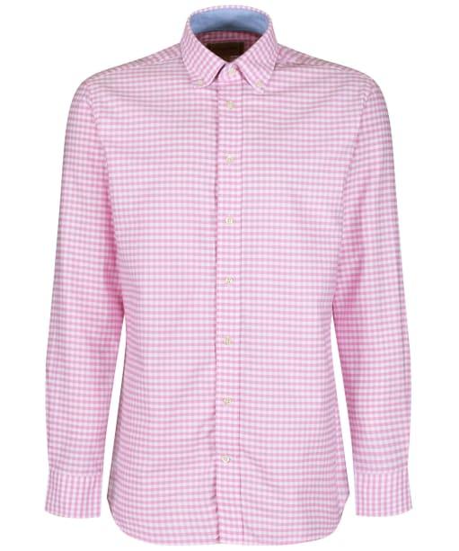 Men's Schöffel Soft Oxford Shirt - Pale Pink Gingham