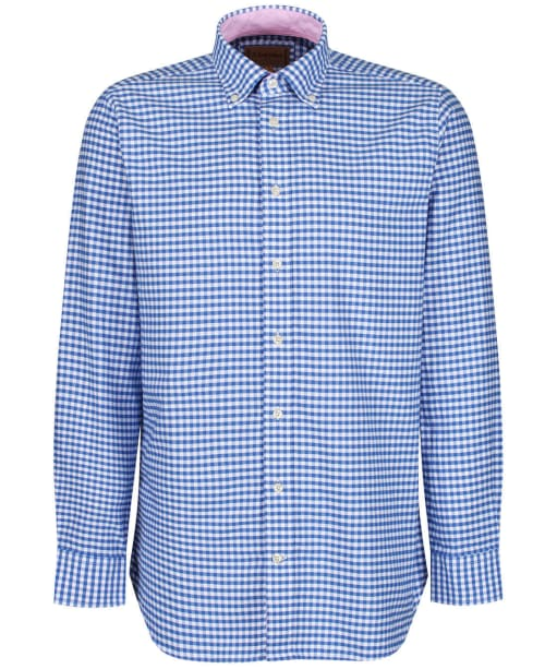 Men's Schöffel Soft Oxford Shirt - Pale Blue Gingham