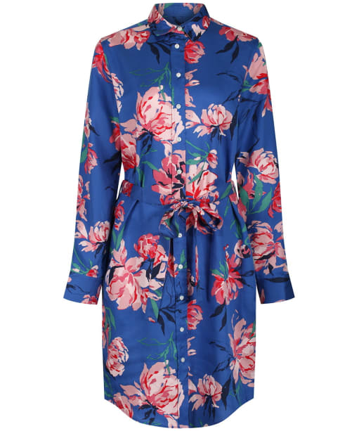 Women's GANT Peonies Print Shirt Dress - Bright Cobalt
