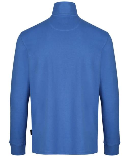 Men's Schöffel Cotton French Ribbed ¼ Zip Sweater - Cornflower Blue