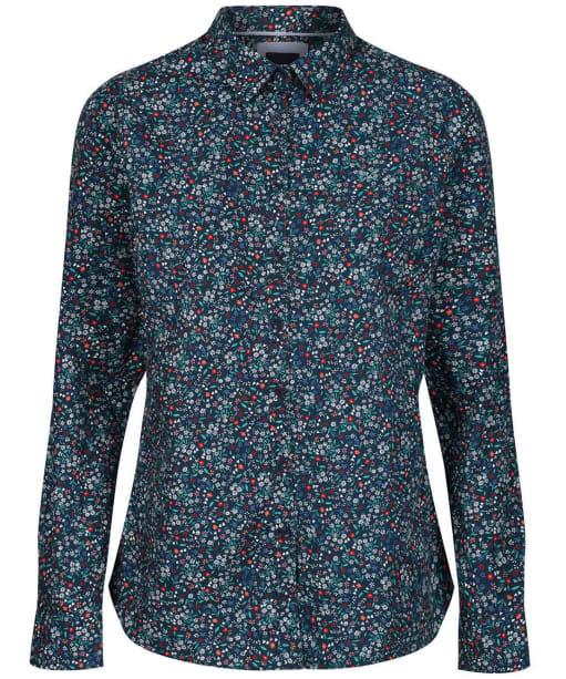 Women's Crew Clothing Lulworth Poplin Shirt - Navy Multi