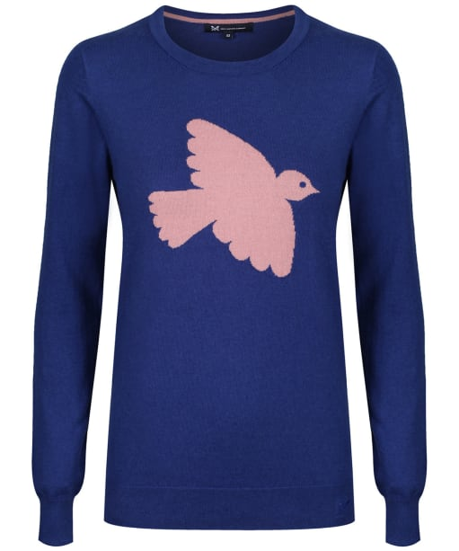 Women's Crew Clothing Bird Intarsia Jumper - Ultramarine / Pink