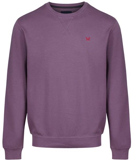 Men's Crew Clothing Crew Neck Pique Sweatshirt - Purple Dusk