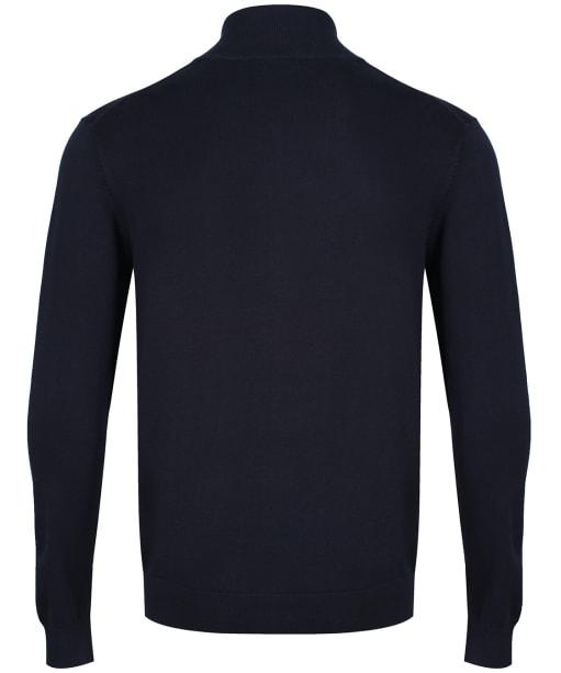 Men's GANT Classic Cotton Zip Cardigan - Evening Blue