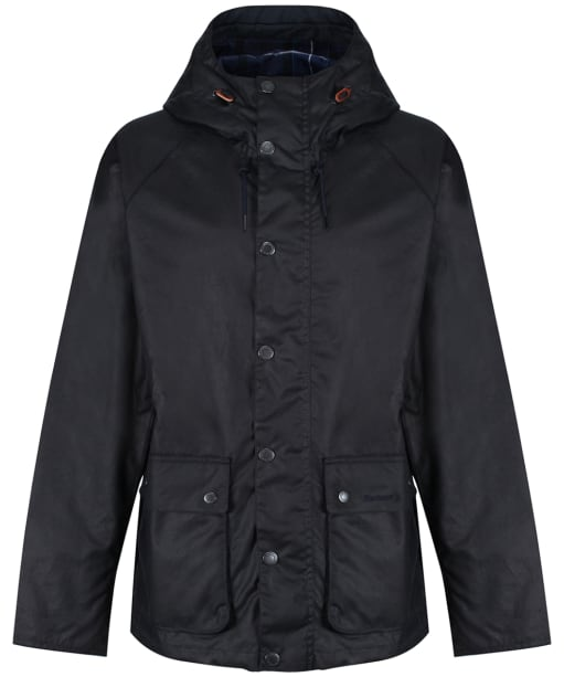 Men's Barbour Dolgo Waxed Jacket - Royal Navy