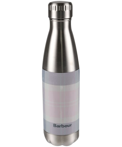 Barbour Tartan Water Bottle - Pink / Grey Tartan