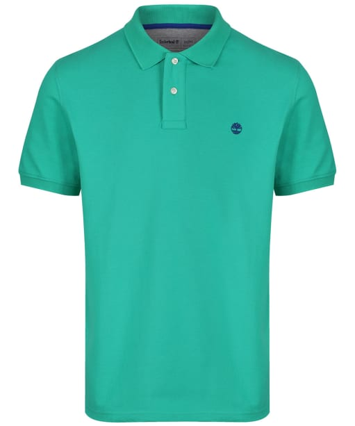 Men's Timberland S/S Millers River Polo Shirt - Deep Mint