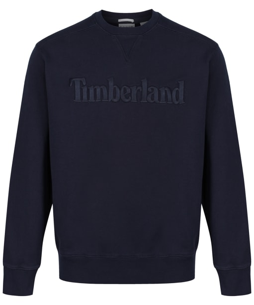 Men's Timberland Exeter River Logo Embroidery Crew Sweater - Dark Navy