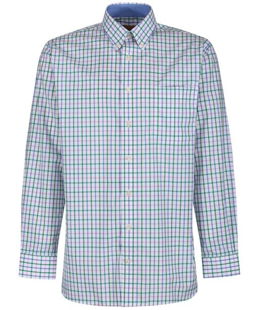 Men's Schoffel Holkham Shirt - MARINE/PINK/GRN