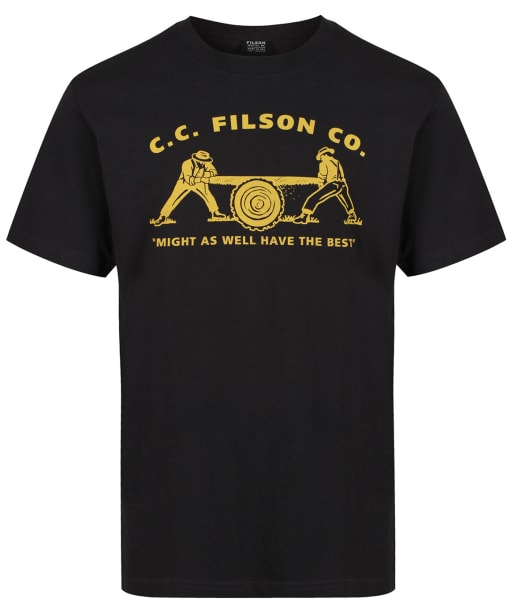 Men's Filson S/S Outfitter Graphic T-shirt - Faded Black