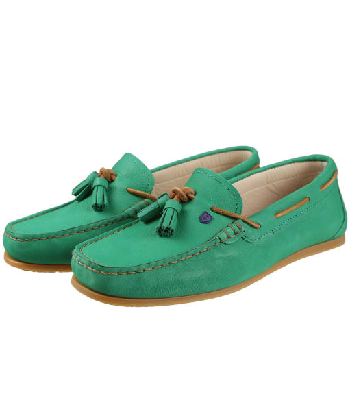 Women's Dubarry Jamaica Boat Shoes - Kelly Green