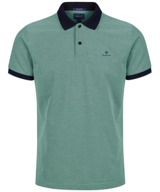 Men's GANT 4-Colour Polo Shirt - Four Leaf Green