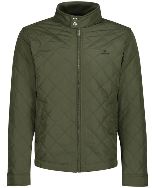 Men's GANT Quilted Windcheater - Four Leaf Green