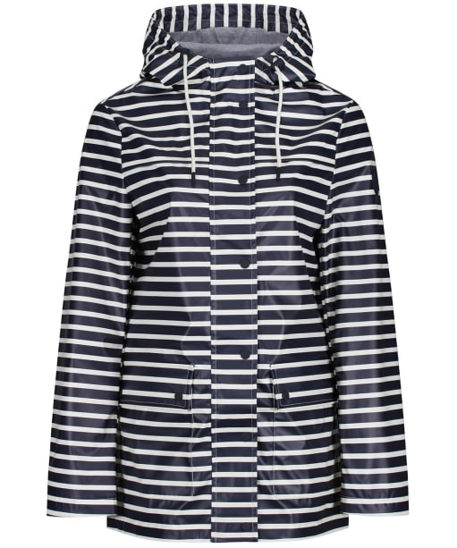 Women's Crew Clothing Rubber Stripe Jacket - Navy / White