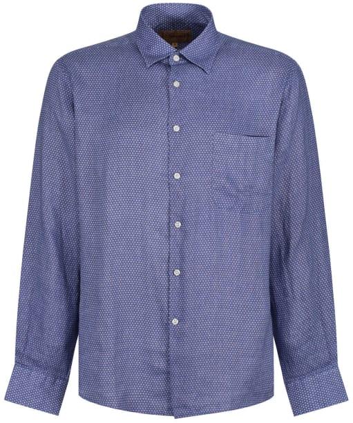 Men's Schoffel Thornham Shirt - Navy Dot