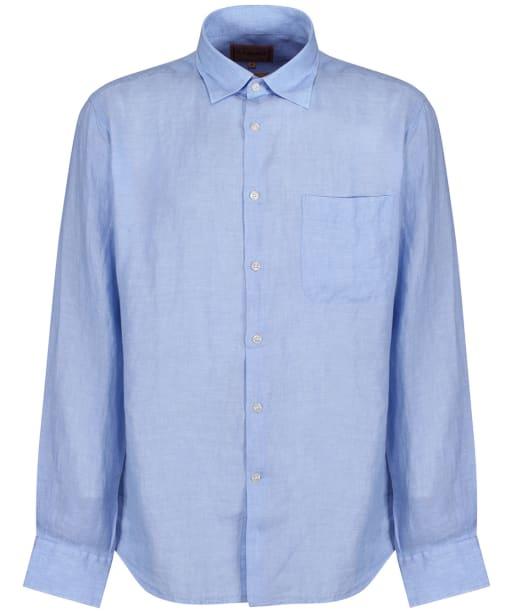 Men's Schoffel Thornham Shirt - Linen Lt Blue