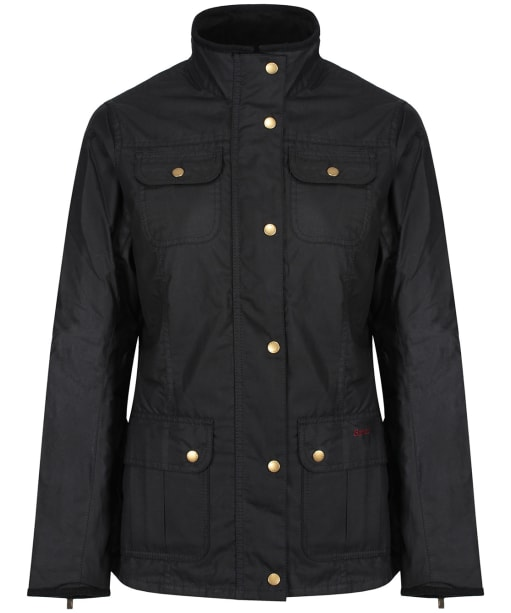 Women's Barbour Tennant Waxed Jacket - Navy