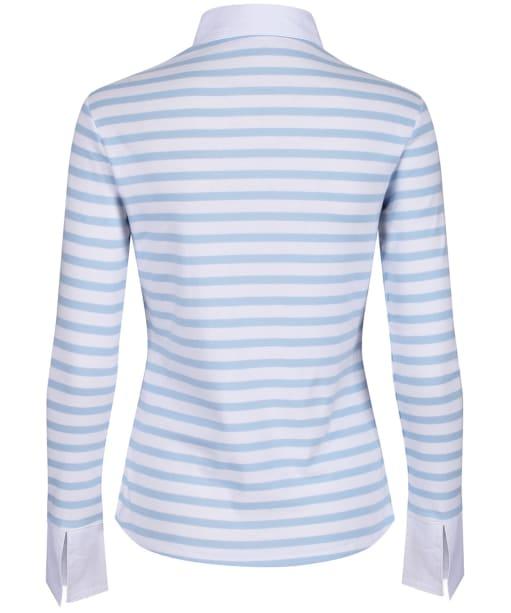 Women's Schöffel Salcombe Shirt - Harbour Stripe Cornflower Blue