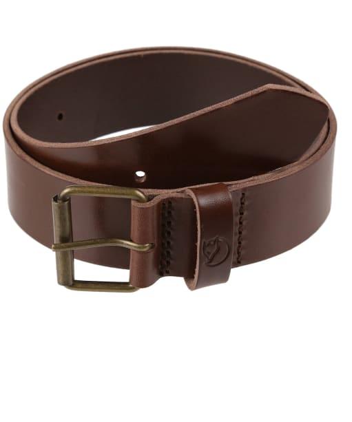 Fjallraven Singi Belt 4cm - Leather Brown