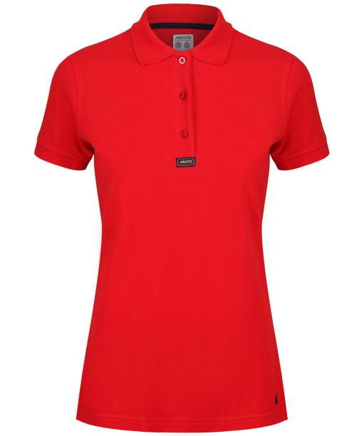 Women's Musto Pique Polo Shirt - True Red