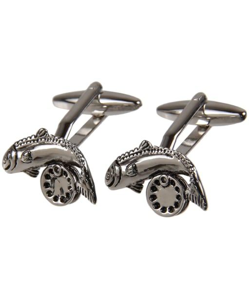 Men's Soprano Fish and Reel Cufflinks - Silver