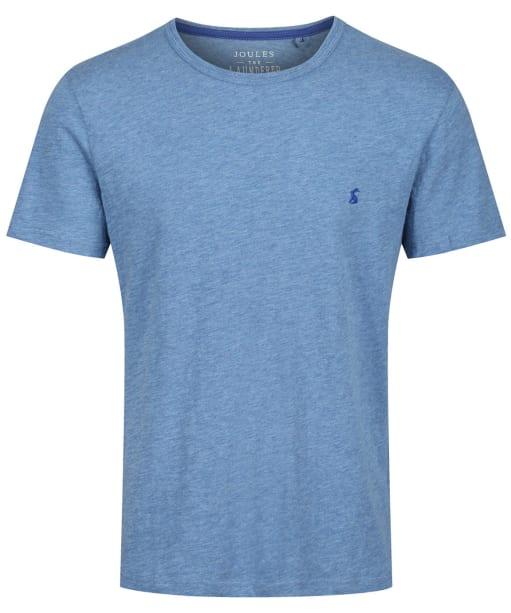 Men's Joules Denton Solid Crew Neck T-Shirt - Blue Mid Marl