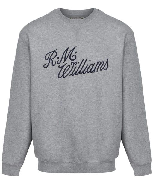 R.M. Williams Script Crew Neck Sweater - Grey / Blue