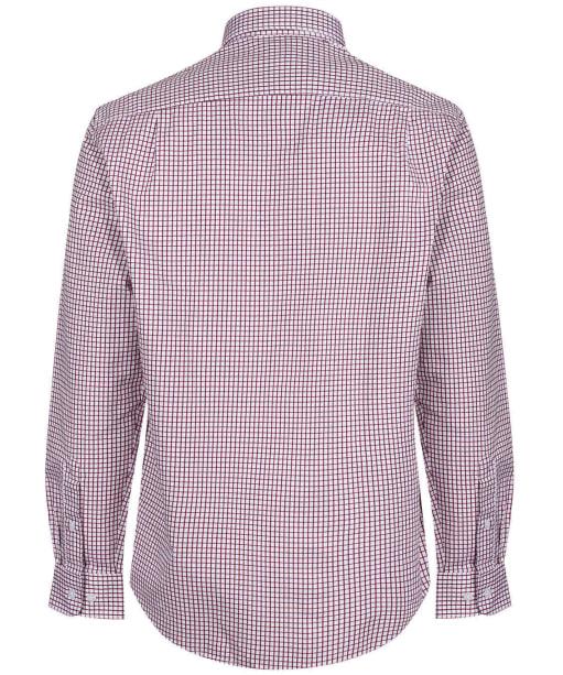 Men's R.M. Williams Collins Cotton Twill Shirt - Burgundy / White