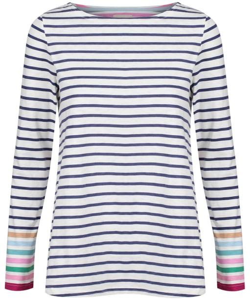 Women's Joules Harbour Long Sleeve Jersey Top - Multi Stripe