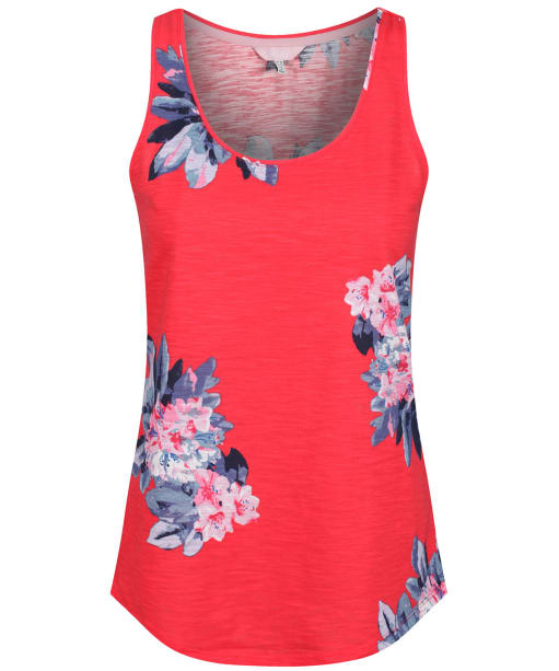 Women's Joules Bo Printed Jersey Vest Top - Floral Red