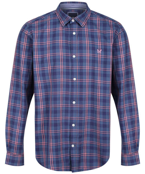 Men's Crew Clothing Stamford Twill Shirt - Blue Check