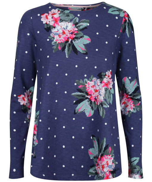 Women's Joules Harbour Print Top - Spot Blue Floral