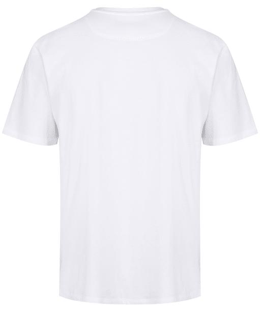 Men's R.M. Williams Parson T-Shirt - White / Chestnut
