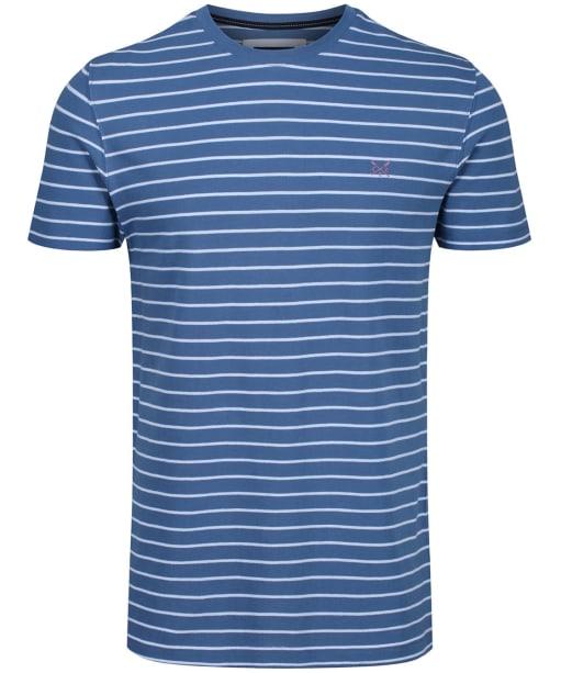 Men's Crew Clothing Marshaw Striped Tee - Blue / White