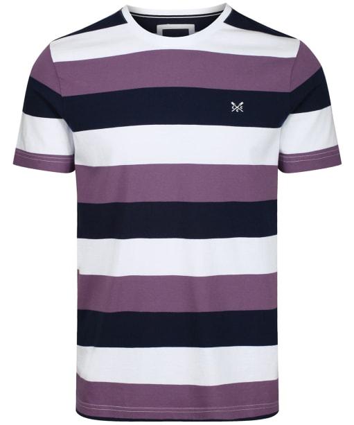 Men's Crew Clothing Hodder Stripe Tee - White / Lavender