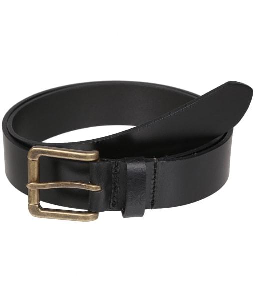 Men's Crew Clothing Classic Leather Belt - Black
