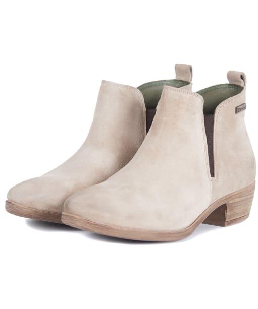 Women's Barbour Healy Chelsea Boots - BEIGE SUEDE