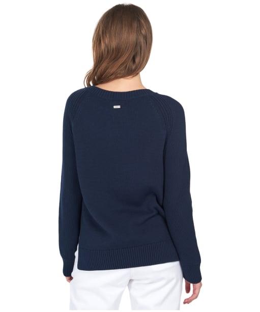 Women's Barbour Shoreline Knit Sweater - Navy