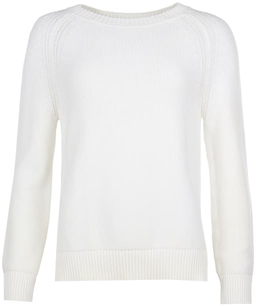 Women's Barbour Shoreline Knit Sweater - Off White