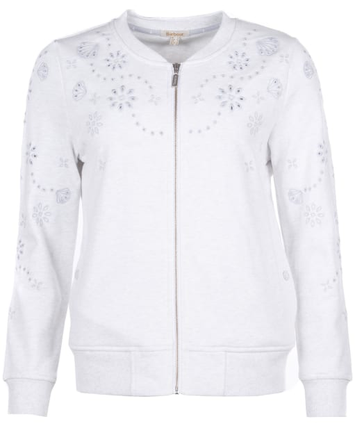 Women's Barbour Mersey Bomber Jacket - Ice White Marl