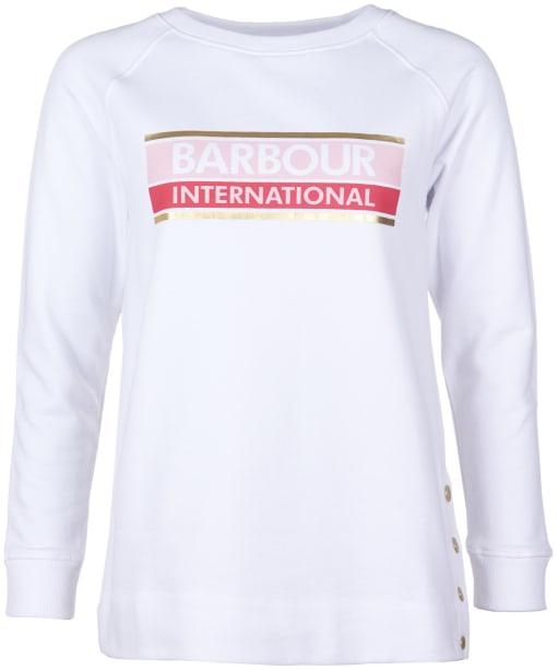 Women's Barbour International Hurricane Overlayer - Off White