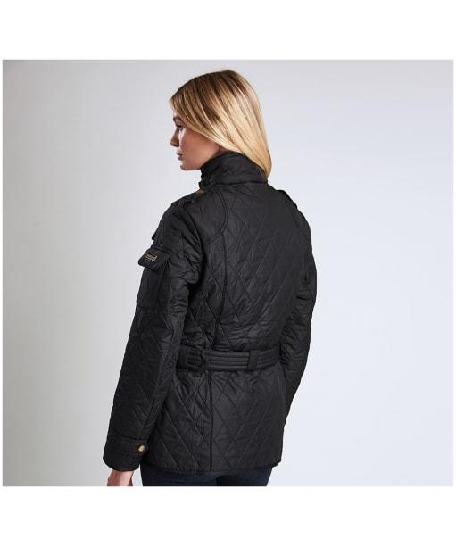 Women's Barbour International Tourer Polarquilt Jacket - Black