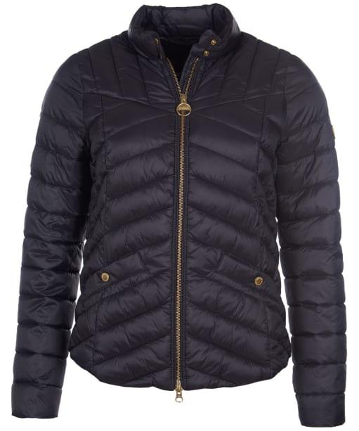 Women's Barbour International Interceptor Quilted Jacket - Black