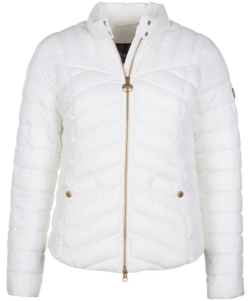 Women's Barbour International Interceptor Quilted Jacket - Optic White