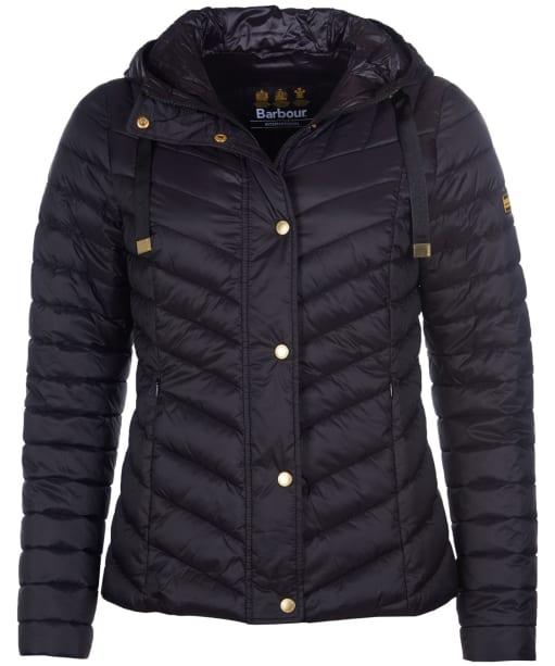 Women's Barbour International Lightning Quilted Jacket - Black