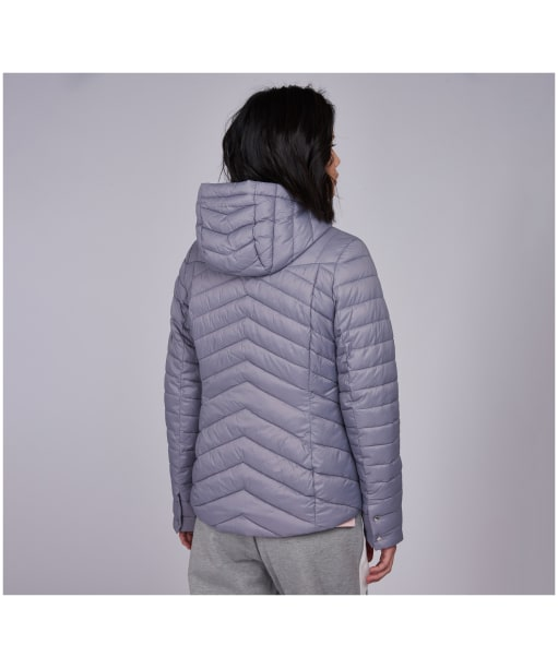 Women's Barbour International Lightning Quilted Jacket - MOONSTONE