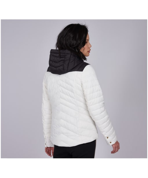 Women's Barbour International Lightning Quilted Jacket - Optic White